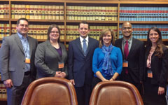 Photograph: Three generations of mentors and mentees at the Kansas Supreme Court.