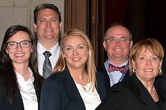 Photograph: Some of the Washburn Law admittees at a previous swearing-in ceremony.