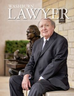 Graphic: Cover of Washburn Lawyer, volume 56, issue 1 (spring 2019).