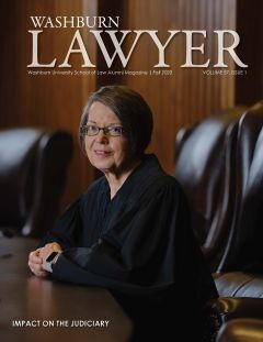 Graphic: Cover of Washburn Lawyer, volume 57, issue 1 (fall 2020).
