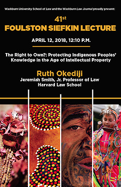 Prof  Ruth Okediji of Harvard Law delivers 41st Foulston Siefkin Lecture